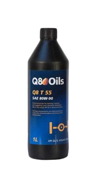 Масло трансмиссионное минеральное Q8 T 55 80W-90 (1л)