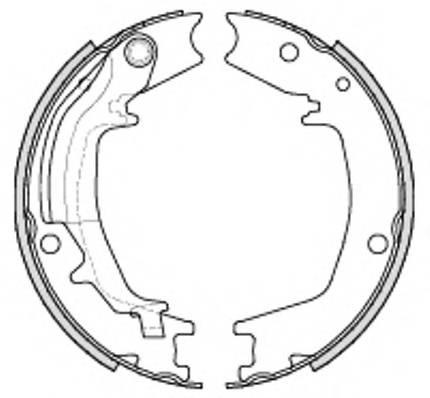 Колодки ручника Elantra 2000-2006  Santa Fe 01-06
