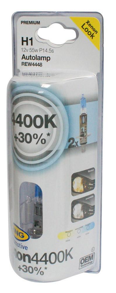 Автолампы галогеновые XENON4400K +30% H1 - INT