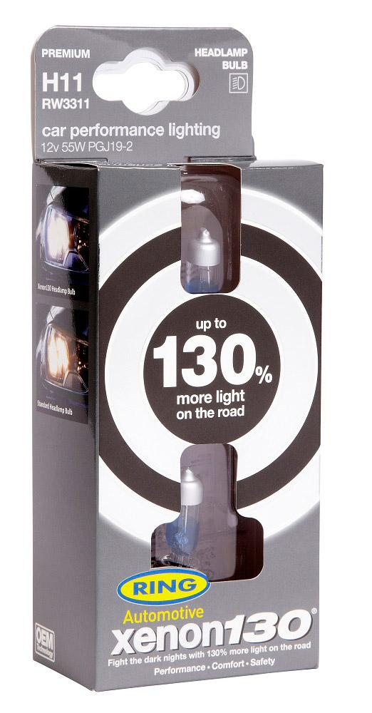 Автолампа H11 Xenon130 Brighter headlamp 12V 55W PGJ19-2