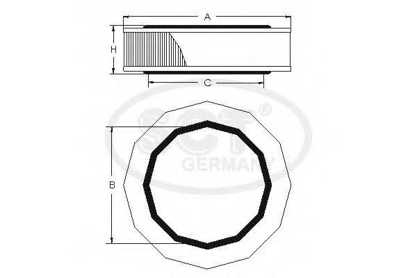 Воздушный фильтр VAGA80/A100/G2/G3/POLO