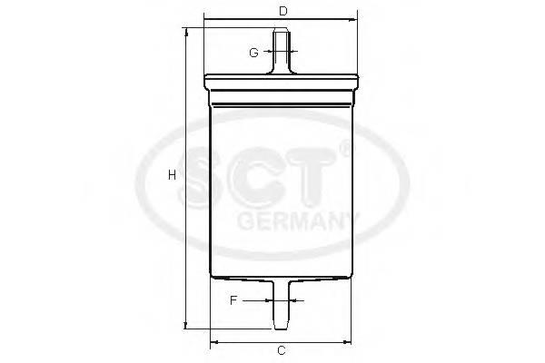 Топливный фильтр LADA KALINA/PRIORA/GRANTA/VW G5/GOLG PLUS/SKODA FABIA 99-07/OPE