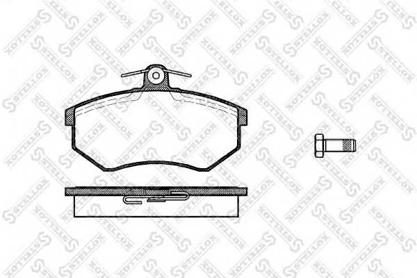 Колодки дисковые п Audi 80 16-20i 91-95