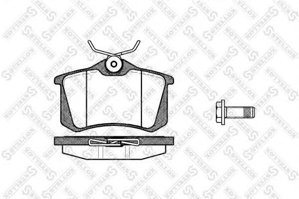 Комплект тормозных колодок. дисковый тормоз