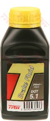 Жидкость тормозная  TRW  DOT5.1  (250ml)