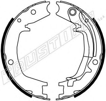 Комплект тормозных колодок. стояночная тормозная система