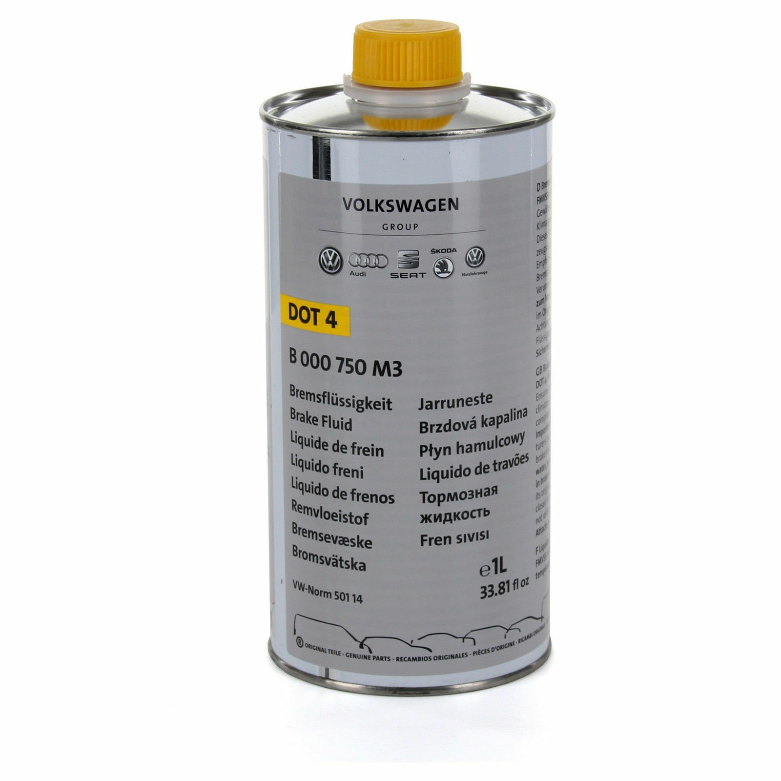 Жидкость тормозная DOT 4. BRAKE FLUID. 1л