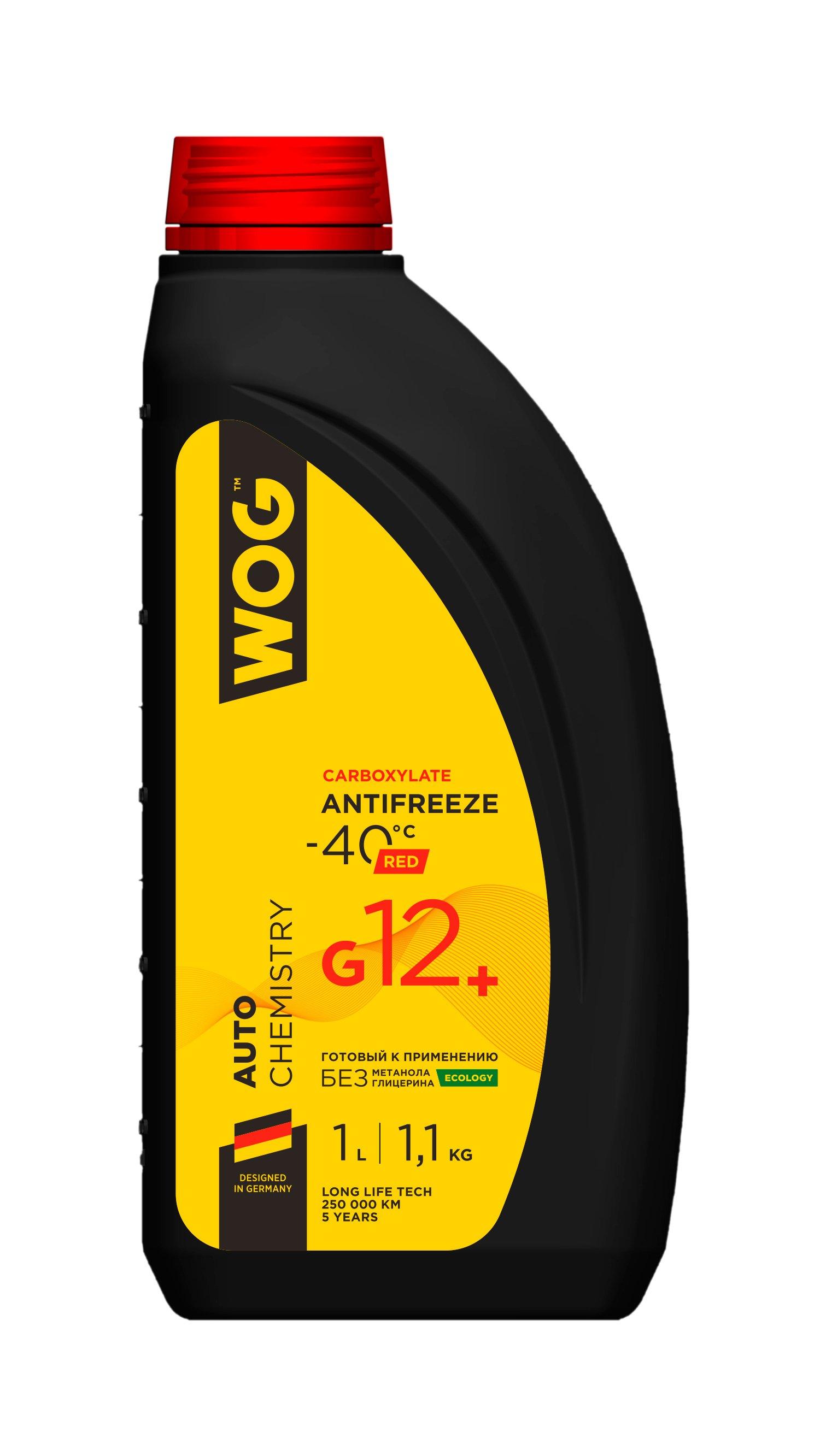Антифриз G12+(-40C) красный  WOG. 1 л